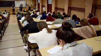 Estudiantes de la UAL durante una prueba.