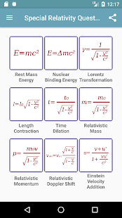 Special Relativity Questions- screenshot thumbnail