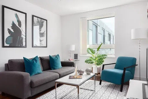 Lincoln Plaza Serviced Apartments, Canary Wharf, London living room