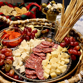 Antipasto Italiano. by Peter DiMarco - Food & Drink Meats & Cheeses ( appetizer, meats, antipasto, food, cheese )