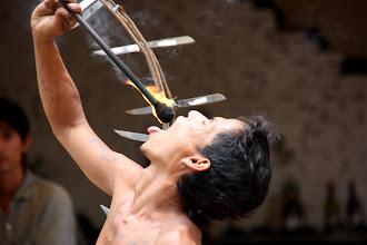 Photo: Year 2 Day 42 -  Entertainer in Pub Street in Siem Reap