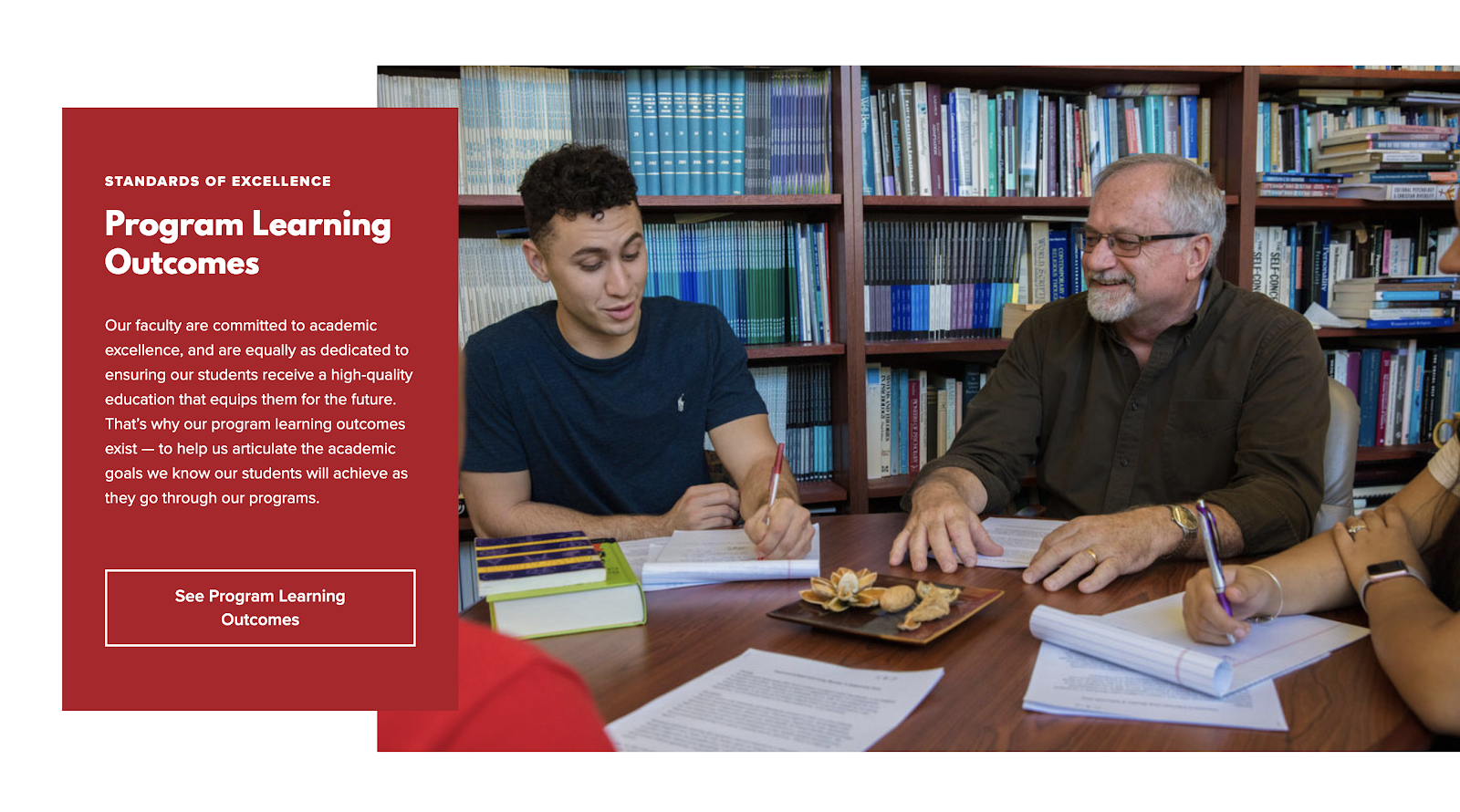 Biola University's outcomes section