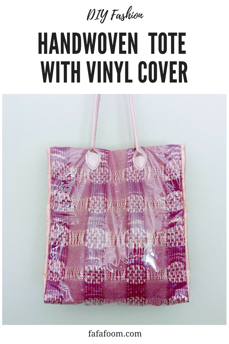 DIY Handwoven Tote with Clear Vinyl Cover - DIY Fashion Accessories | fafafoom.com