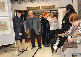 """Photo: alerie-Eröffnung am 26.9.2013 mit der Ausstellung """"Charlotte Pohl, Malerei und Graphik. Foto: Barbara Zeininger"""