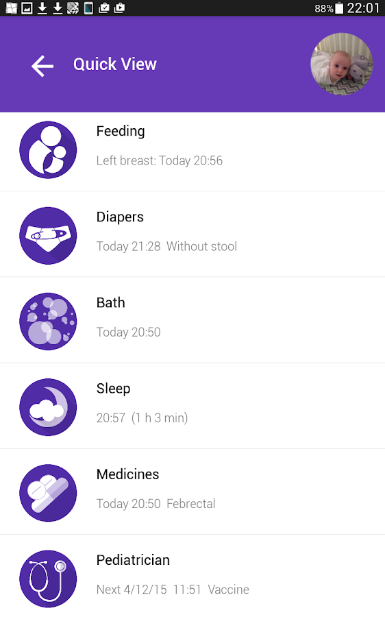 My Wee App - Baby tracker- screenshot