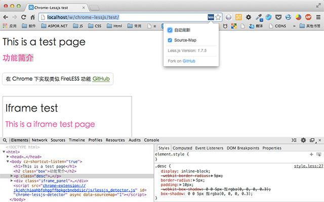 Lessjs for Google Chrome