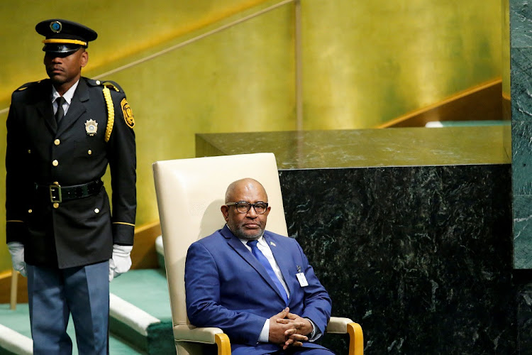 Comoros President Azali Assoumani at the United Nations General Assembly at UN headquarters in New York, the US, September 27 2018. Picture: REUTERS/EDUARDO MUNOZ