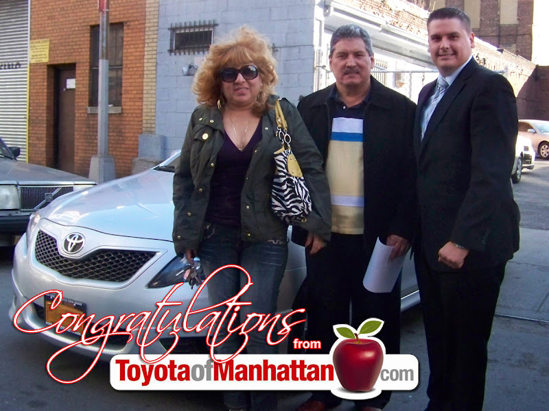 Photo: Congratulations Veronica and Robert, pictured here with their Finance Manager, Mel Guerra and their Toyota Camry! Thank you Veronica and Robert for choosing Toyota of Manhattan!