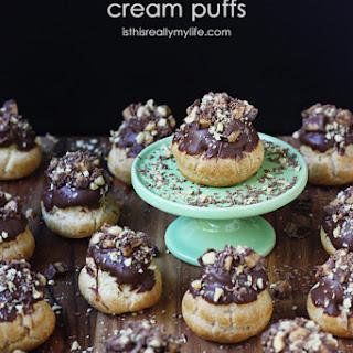 Peanut Butter Cup Cream Puffs