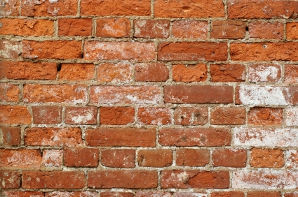 Old wall from a red brick