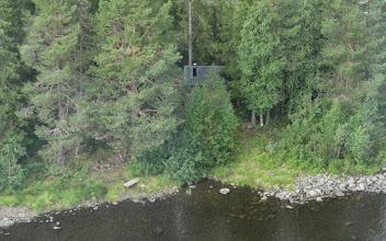 Photo: Fiskekojan på Kron-Storön i Edsforsen