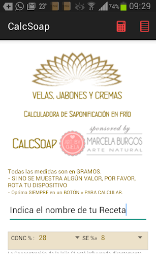 CalcSoap - Jabón Artesanal
