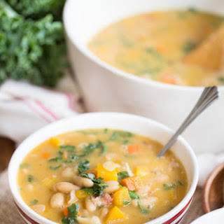 Tuscan Bean and Butternut Squash Soup.