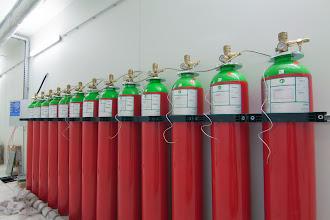 Photo: Système d'extinction incendie #datacenter #reims (Visite de chantier 28.11.2014)