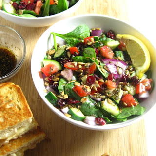 Spinach Salad With Homemade Dressing.