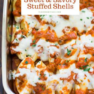 Sweet and Savory Stuffed Shells.