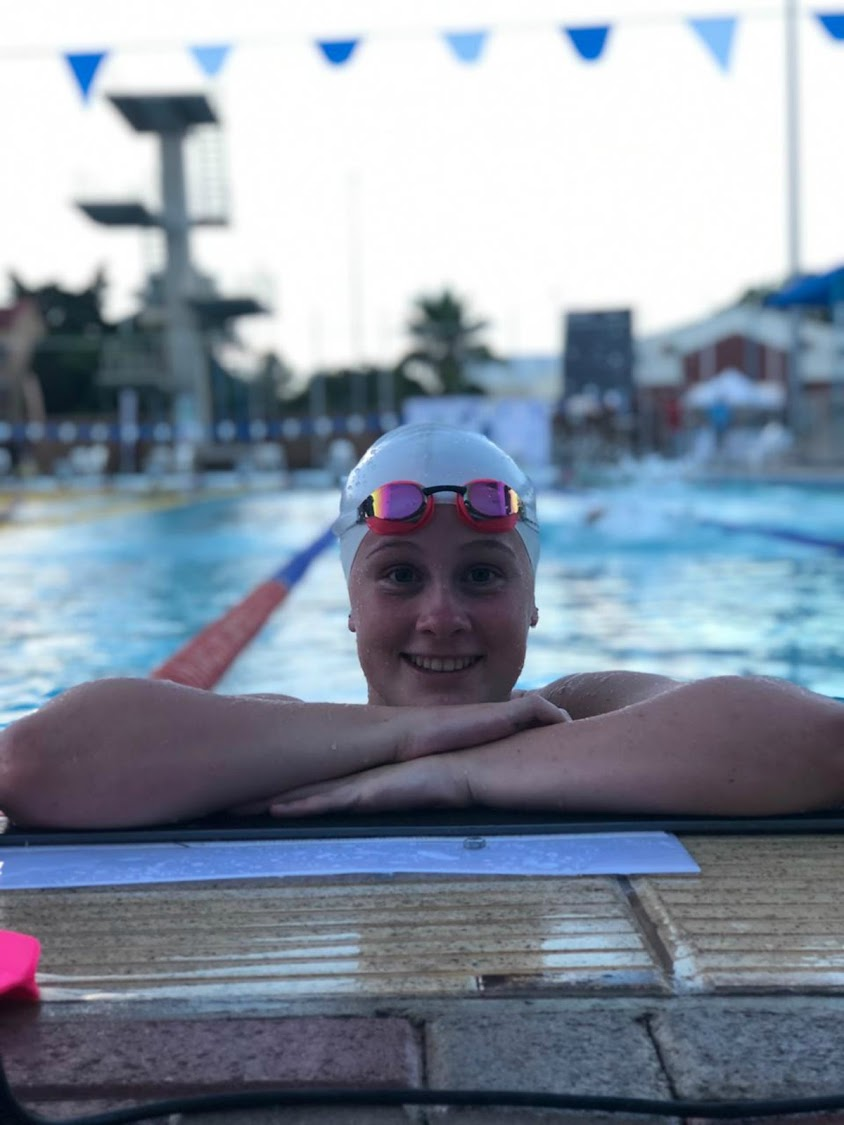 Bay swimmer Paige Brombacher hopes to build on her medal winning performance which saw her claim gold in the 200m breaaststroke at the Region V games in Botswana recently. Picture: Supplied