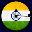 Indian Flag Clock Widget
