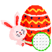 Easter Color by Number - Easter Eggs Pixel Art