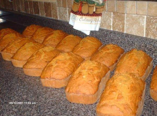 Several Pumpkin Breads All In A Row!
