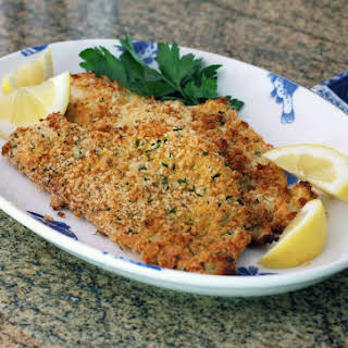 Baked Panko Crusted Fish.