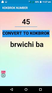 Kokborok number - náhled