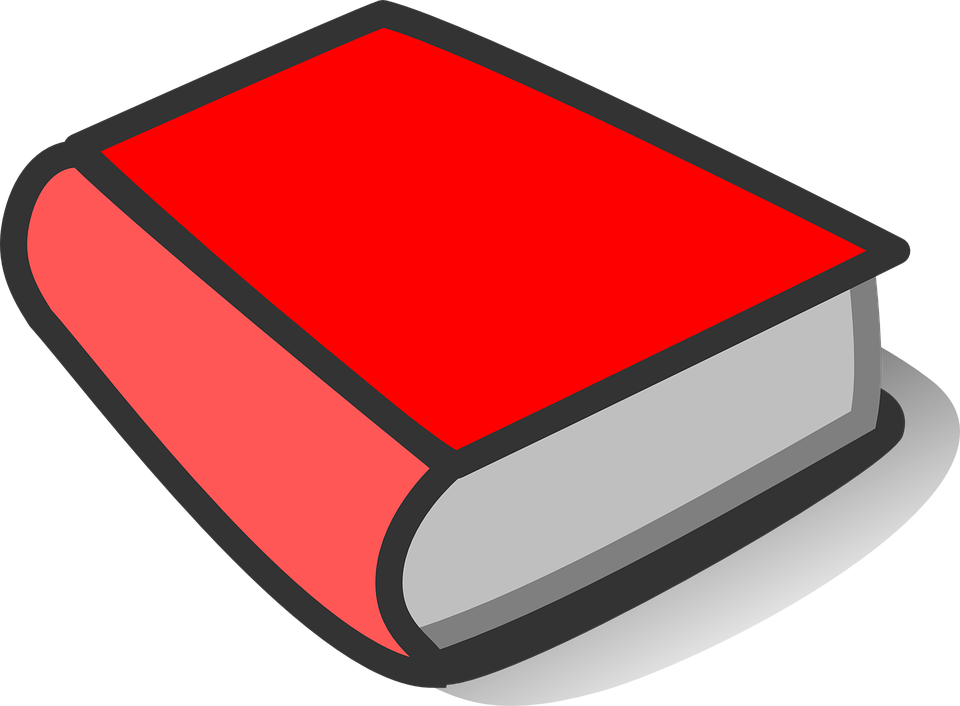 Book, Red, Thick, Blank, ...
