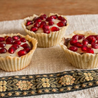 Pomegranate Custard Tarts
