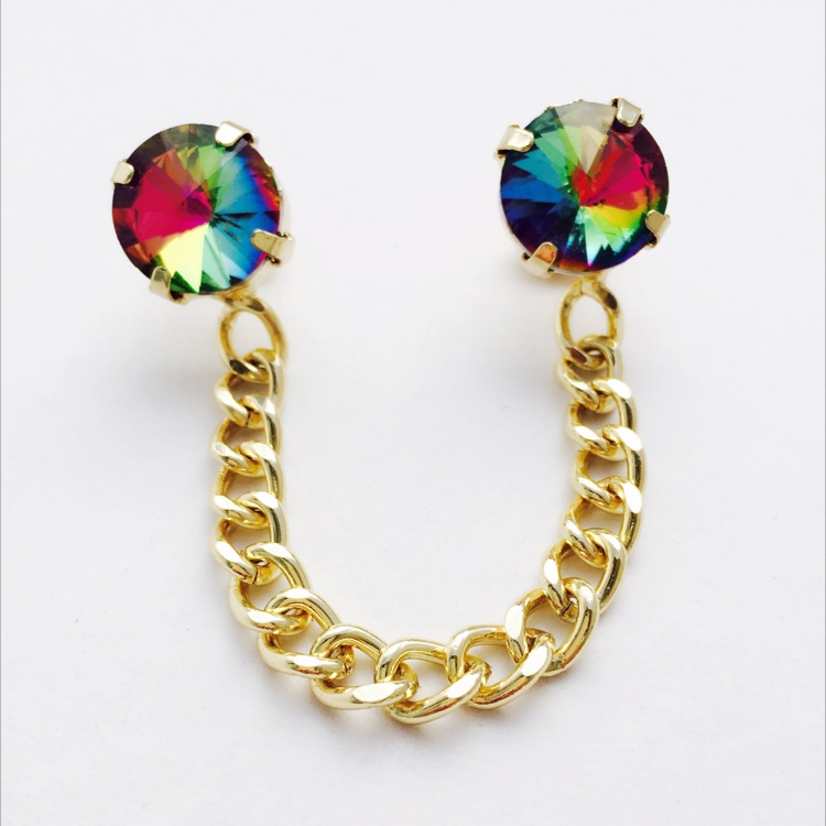 M. Over The Rainbow Collar Brooch