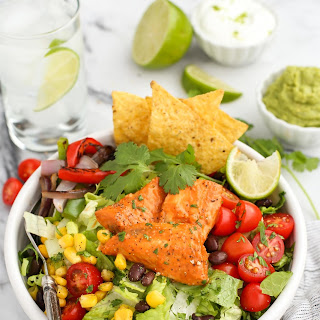 Santa Fe Tilapia Chopped Salad Bowl.