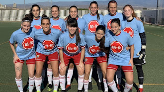 El Almería mostró su apoyo a la campaña de lucha contra la violencia de género.