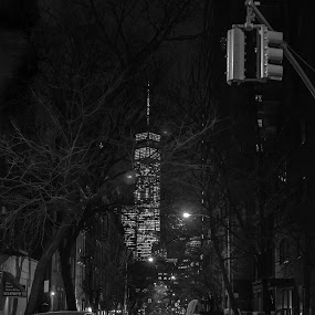 by Mario Spiz - Black & White Street & Candid ( soho, night photography, new york, nyc, street photography )
