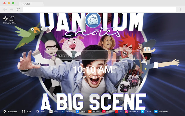 Daniel Middleton New Tab HD Players Theme