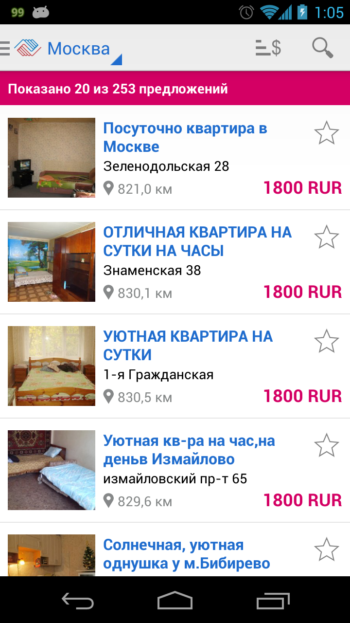 Скриншот VLASNE - квартиры посуточно