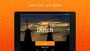 Screenshot of Learn Dutch with Babbel