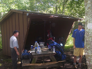 Photo: What a typical Appalachian Trail shelter looks like. You sleep in it, if you were wondering.