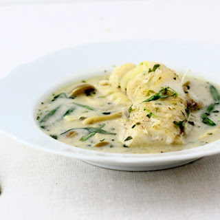POACHED COD IN COCONUT MILK