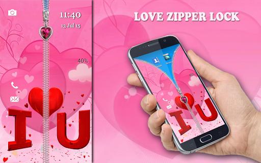 Love Zipper Lock