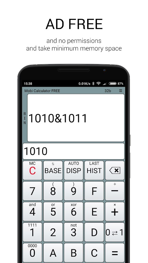 Mobi Calculator FREE- screenshot