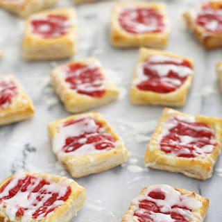 Strawberry Rhubarb Almond Danishes.