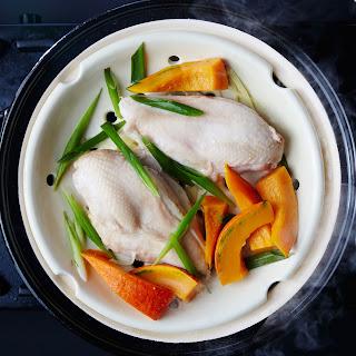 Sake-Steamed Chicken and Kabocha Squash