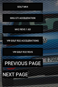 Engine Sounds of VW Golf screenshot 1
