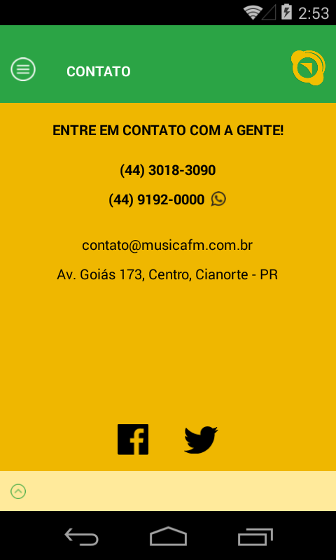 Rádio Música FM- screenshot