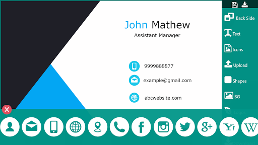 Business Card Maker Free Visiting Card Maker photo screenshot 4