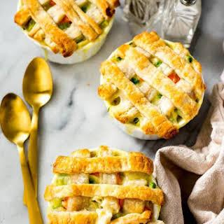 Super Easy Mini Chicken Pot Pies.