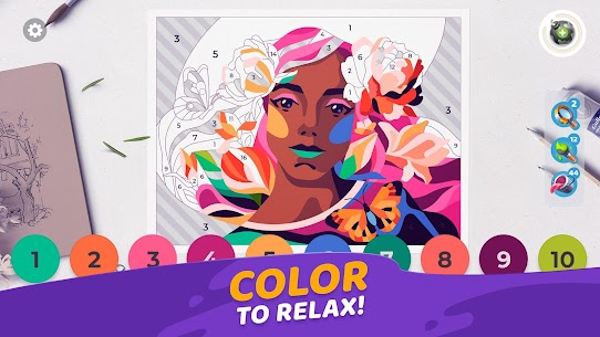 Gallery: Coloring Book by Number MOD APK [Unlimited Boosters] 2