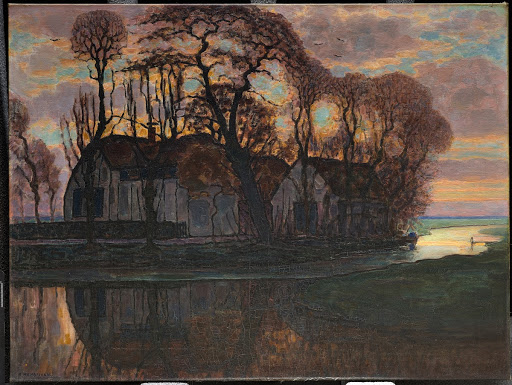 Farm Near Duivendrecht, in the Evening