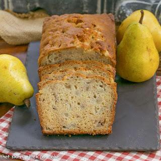 Sour Cream Pear Bread.