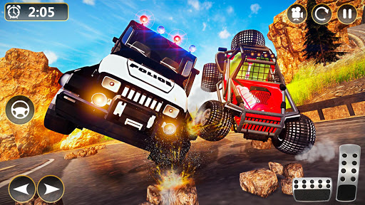 Offroad Police Jeep 4x4 Driving & Racing Simulator 1.7.4 screenshots 3