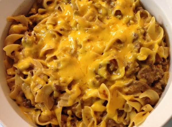 Taco Mac With Some Extra Cheddar Melted On Top.